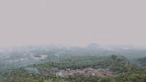 Fog and smoke. On the mountain at pandeglang west java indonesia stock footage
