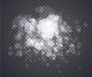 Fog or smoke. Illustration isolated on transparent background. Stock Photo