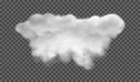 Fog or smoke isolated transparent special effect. White  cloudiness, mist or smog background. Vector illustration. EPS 10. Fog or smoke isolated transparent Stock Photography