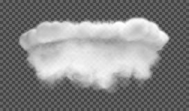 Fog or smoke isolated transparent special effect. White  cloudiness, mist or smog background. Vector illustration. EPS 10. Fog or smoke isolated transparent Royalty Free Stock Image