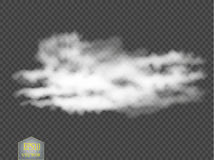 Fog or smoke isolated transparent special effect. White vector cloudiness, mist or smog background. Vector. Illustration Stock Photography