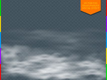 Fog or smoke transparent special effect transparency in additional format only. White vector cloudiness, mist or smog background. Magic haze, steam illustration royalty free illustration