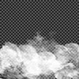 Fog or smoke  transparent special effect. White vector cloudiness, mist or smog background. Vector illustration. EPS 10. Fog or smoke  transparent special effect Royalty Free Stock Images