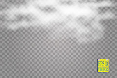 Fog or smoke  transparent special effect. White vector cloudiness, mist or smog background. Vector. Illustration Royalty Free Stock Photos