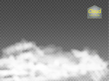 Fog or smoke  transparent special effect. White vector cloudiness, mist or smog background. Vector. Illustration Royalty Free Stock Images