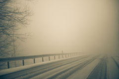 Fog and Snow Stock Photography