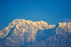 Fog on the snow mountains in Nepal Stock Photography