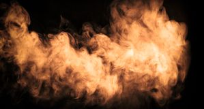 Abstract color fog or smoke move on black color background stock photo