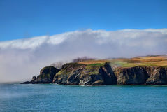 Fog at south Stack Lighthouse Royalty Free Stock Images