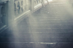 Fog and stair Royalty Free Stock Image