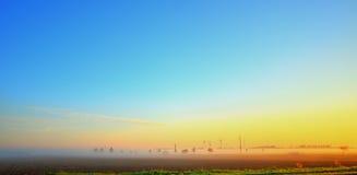 Fog Strip in the Sunrise Royalty Free Stock Photos