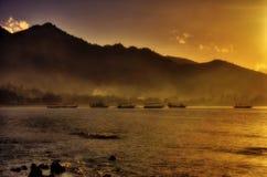 Fog of sunrise Stock Image