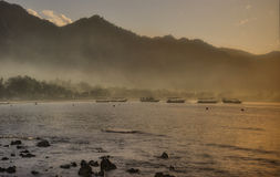 Fog of sunrise of Bali Royalty Free Stock Images