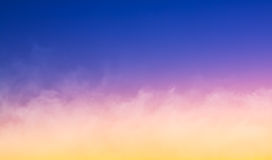 Fog at Sunset Royalty Free Stock Photography