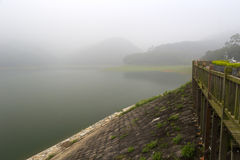 Fog tianzhu mountain reservoir Stock Photos