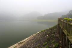 Fog tianzhu mountain reservoir Stock Photos