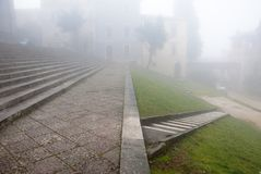 Fog, Todi, Next to S. Fortunato Church Stock Photo