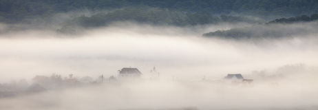 Fog in the town Royalty Free Stock Image