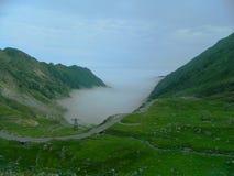 Fog in Transfagarasan Stock Image