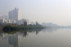 Fog yundang lake Royalty Free Stock Photography