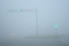 Fog-Urban Intersection Royalty Free Stock Image