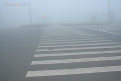 Fog-Urban Intersection Stock Photos
