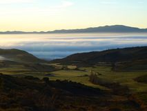 Fog in the Valley Royalty Free Stock Photography