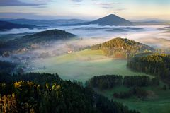 The fog valley Stock Images