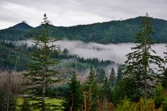 Fog valley Royalty Free Stock Photography