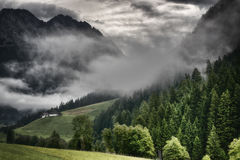 Fog in the valley Stock Photography