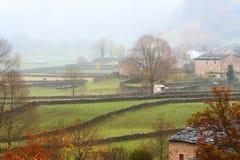 Fog in Vega del Pas Stock Photography