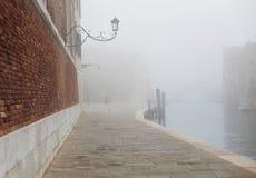 Fog in Venice near Arsenal Royalty Free Stock Photos