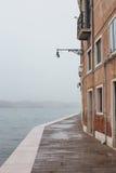 Fog Venice street, Italy Stock Photography