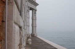 Fog view on San Marco gulf in Venice, Italy Stock Images