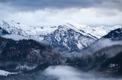 Fog in winter Alps Royalty Free Stock Images