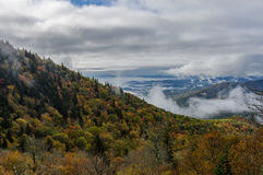 Fog Wisps in Mountains Changing in Autumn Royalty Free Stock Photos