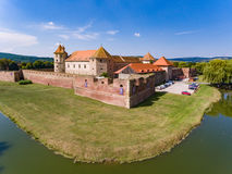 Fogarasch medieval fortress in the city of Fagaras Transylvania Stock Images
