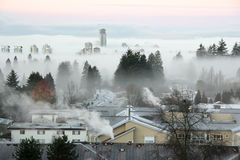 Free Fogbound Buildings And Houses Stock Photography - 85069552
