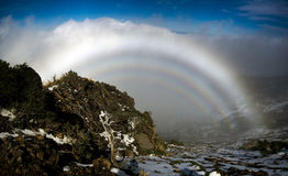 Fogbow in La Palma Royalty-vrije Stock Foto's
