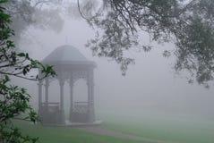 fogged Chinese pavilion Stock Images