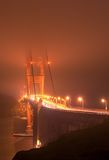 Fogged in Golden Gate Bridge Royalty Free Stock Image