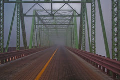 Fogged in. A fogged in steel bridge connecting NJ to PA Stock Images