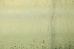Fogged up glass with many drops, close up Royalty Free Stock Image