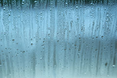 Fogged up glass with many drops, close up Stock Photography