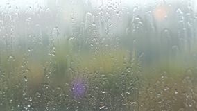 Fogged up glass with many drops stock video footage