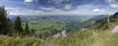 Foggensee with Hangglider Royalty Free Stock Photos