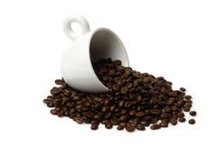 Foggi a coppa con caffè 1 Fotografia Stock Libera da Diritti