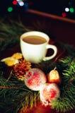 Foggi a coppa un caffè Fotografia Stock