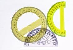Foggia la geometria dell'allievo per i disegni di disegno Immagini Stock