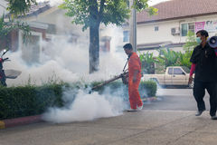 Fogging DDT spray kill mosquito Royalty Free Stock Photos